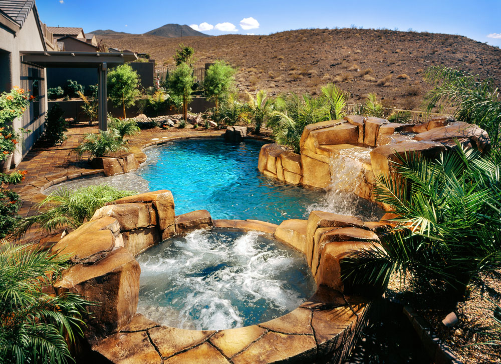 Custom Full Rockscape Swimming Pool Design & Construction