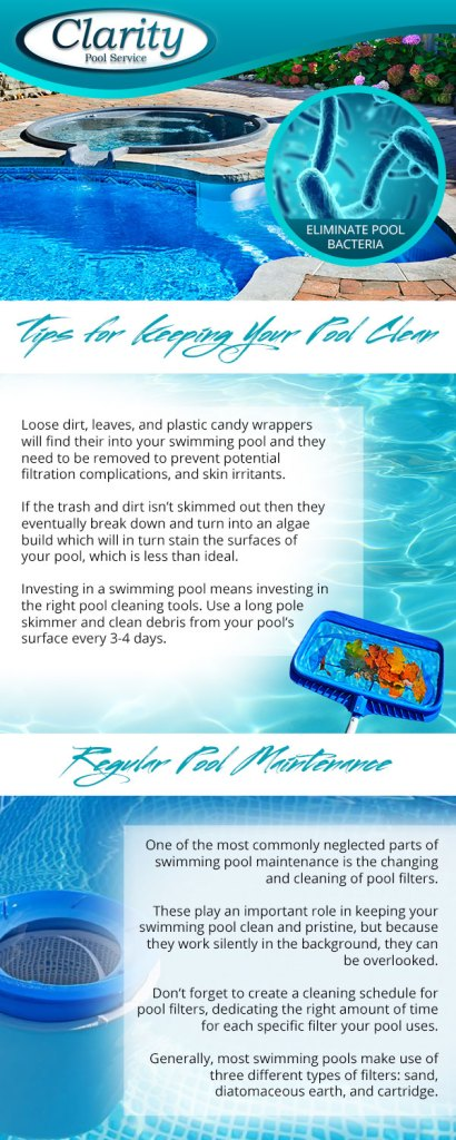 Loose dirt, leaves, and plastic candy wrappers will find their into your swimming pool and they need to be removed to prevent potential filtration complications, and skin irritants.