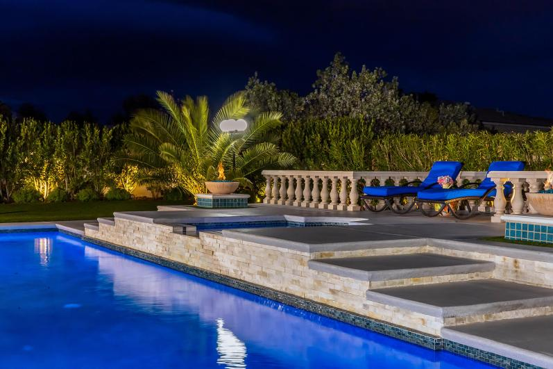 Custom Swimming Pool Design by Clarity Pool Service of Las Vegas, Nevada