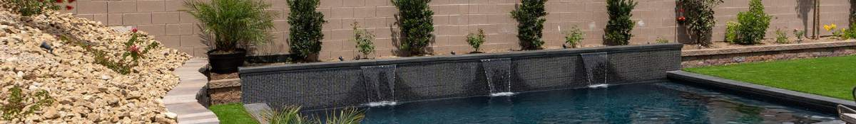 Clarity Pool Service Water Wall in the Desert Project