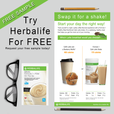 Get a FREE Herbalife Shake Sample!