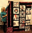 We were all in awe of Darlene's finished BOM quilt top!