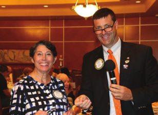 Nancy Slitz wins the Lawrey Bucks.