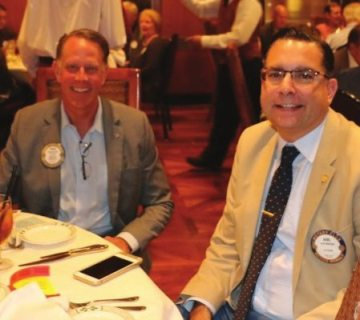 Past President Russ Swain joins Anil Melnick in Fellowship.