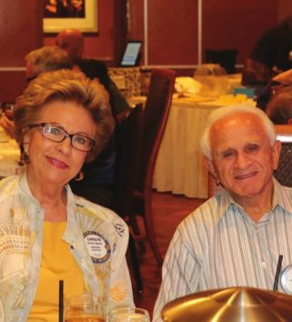 Carolyn Sparks and Jerry Engle join each other for lunch.