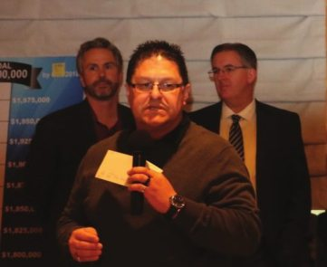 James Kohl and his company Howard & Howard presented a check for $5,500 to the Foundation for an Independent Tomorrow.