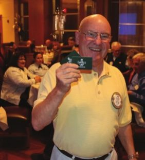 Jim Tucker won the Lawry Bucks and donated them to a Wetzel award winner