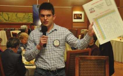 Erik Astramecki sells spots on our Super Bowl Board.