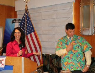Rosalee Hedrick announced the dates for the District Conference and Dave displayed the Attire.