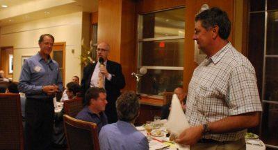 Glenn Meier kicks off the Wetzel Award presentation.