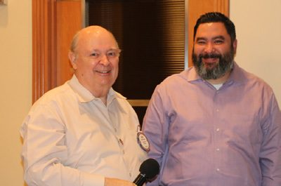 Bob Barnard shared fellowship and lunch with his son.