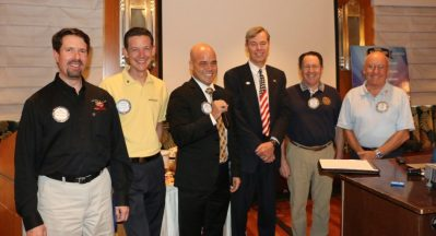 President Dave also recognized other members of the club Bill Houghton, Captain Kirk, Rob Telles, Larry Tomsic, PP Steve Linder, and PP Jim Tucker.