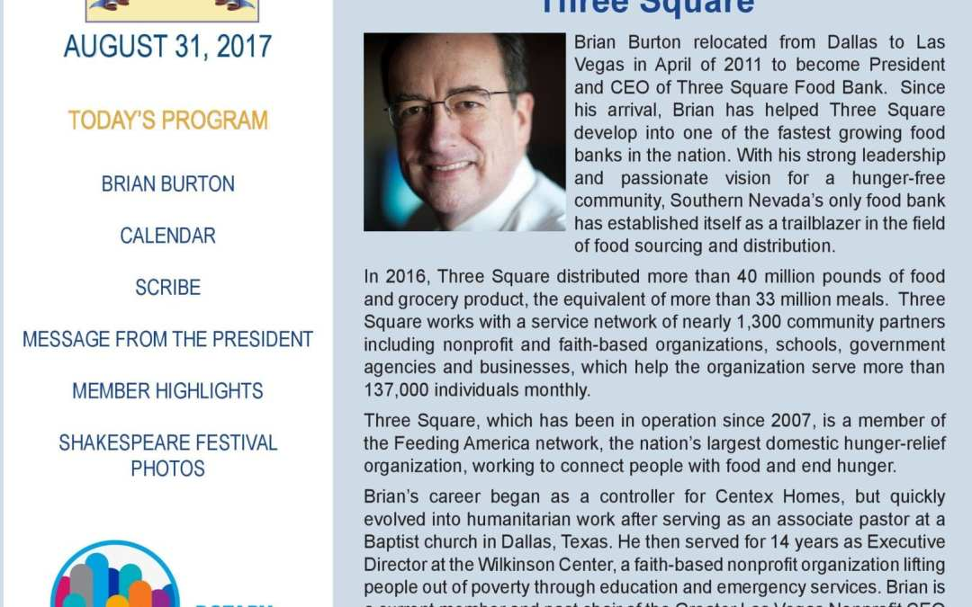 The Wheel for August 31, 2017