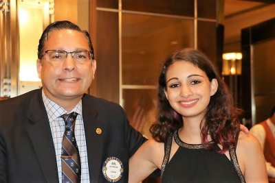 Anil Melnick introduced his daughter Mia who was also awarded with a Paul Harris Fellow.