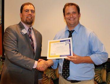 President Michael presented our speaker Joshua Stavros with the Utah Shakespeare Festival our Sole Power Award.