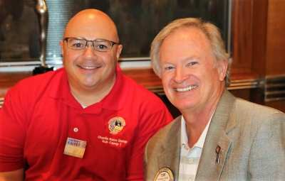 PP Tom Krob introduced the new Executive director Mike Marchese of the Las Vegas Area Boy Scouts of America.