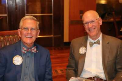 Bow Tie Past Presidents Ned Phillips and Steve Casey.