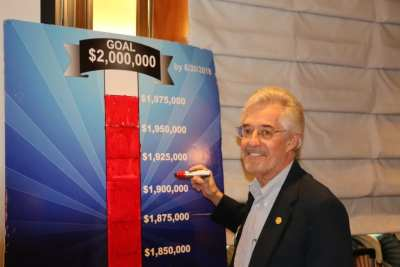 Las Vegas Foundation Board member Paul Kruger Marked our new total on the foundation permanent fund as $1,975,000.