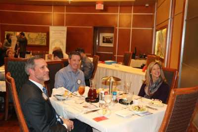 President Michael introduced his head table David Lester, Greg Maguire and our speaker Kelly Burton.