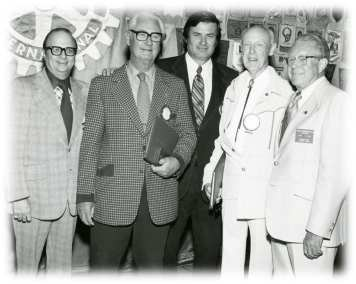 Irwin Kishner, Walt Wehner, Pres Dave Welles, Harvey Luce and Stan Warburton 1977