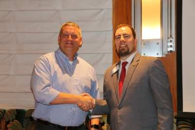 President Michael presented our speaker John Entsminger, the general manager of the LVVWD, with our Share What You Can award.