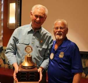 Walt Rulffes and Bob Werner pose with our proudly earned Governor's Bell