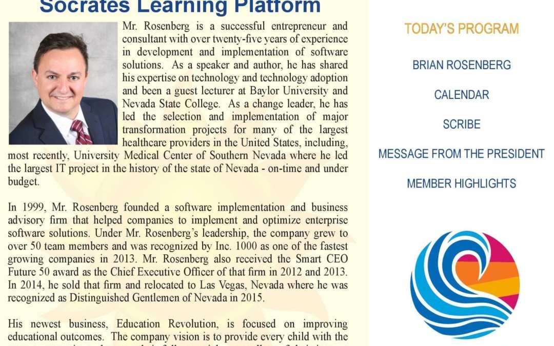 Brian G. Rosenberg – Socrates Learning Platform