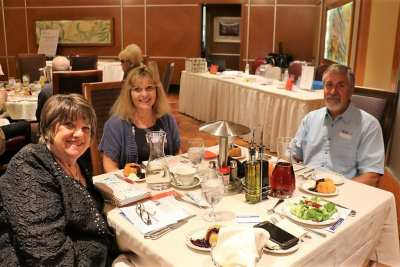 At the head table was our speaker Ron Tjeerdema and his wife along with our program director Tina Bishop.