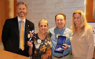 Past President Steve Linder and Janet were recognized as being a Major Donor to Rotary International.