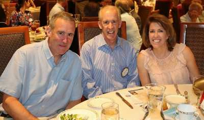 Paul Maffey was joined for lunch by his brother John and his daughter Kathryn.