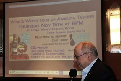 Stu Lipoff announced the upcoming Wine2Water event in November.