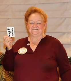 PP Sharon McNair missed her opportunity of winning the pot by pulling 9 of spades and not the Joker.