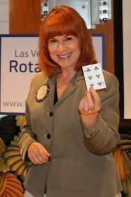 Arleen Sirois was lucky drawing the opportunity for a joker and winning the Lawry's Bucks.