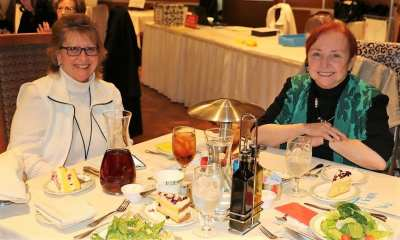 At President Jim's head table was the founding Dean of the UNLV School of Medicine Dr. Barbara Atkinson (R) and her assistant JoAnn Prevetti (L).