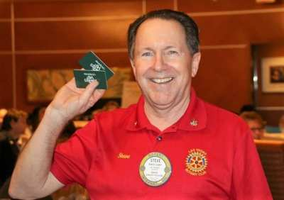 PP Steve Linder walked away with the Lawry's Bucks.