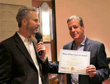 "President Jim presented our speaker Ron Kaiser of Nevada Ballet with our ""Share What You Can Award"""