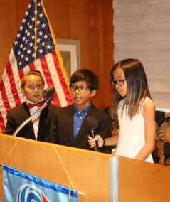 Last Week's meeting was presented by the Kideract Students from Bracken Elementary. They opened the meeting, gave the invocation, song and the pledge of allegiance. And performed the duties of the Greeters and Sargent At Arms. What a professional job they did.