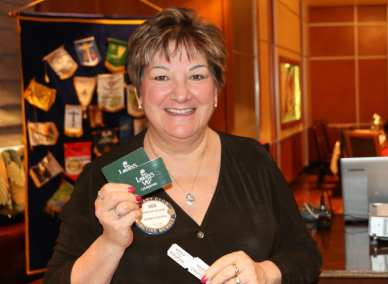 Deb Granda won the Lawry's Bucks.