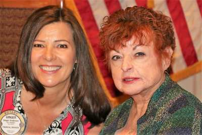 PP Ginger Anderson was joined for lunch by her mother Joan.