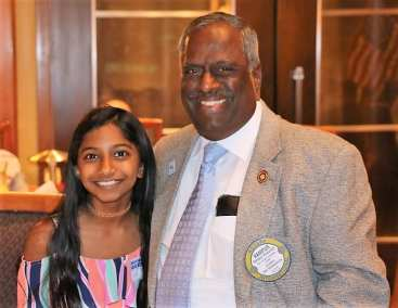 Dr. Rampur Viswanath was joined for lunch by his granddaughter.