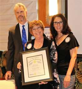 Rosalee Hedrick and President Jim introduced our new member Judith Pinkerton.
