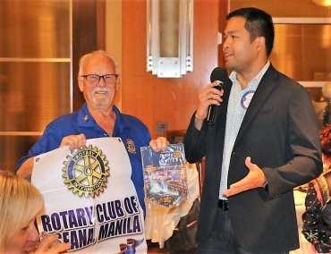 Robert Werner exchanged banners with Von Valdepenas from Manila.