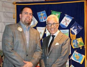 PP Michael Gordon poses with Roger Thomas.