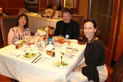 At President Jackie's head table were Barbara Billitzer, Val Hatley and our speaker Dr. Michelle Paul.
