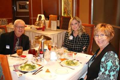 At Jackie's head table was Judith Pinkerton, Cary Grohs and Judy's husband.