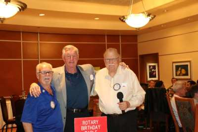 At our birthday table were Bob Werner, Murray visiting from Canada, and Pete Samuolis.