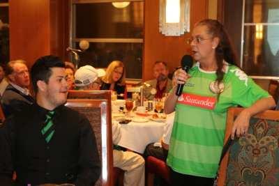 PP Karen Whisenhunt and Max announced the soccer match dates.