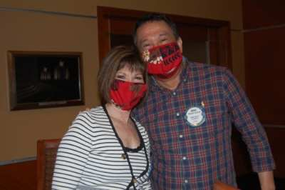 Toni Kern and SAA Mike Cudiamat can't hide their smiles even with masks on.