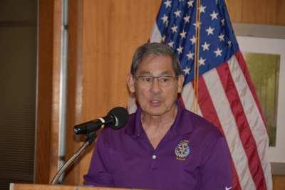 Las Vegas Southwest club Rotarian Fred Fukumoto describes the Four-Way speech contest process