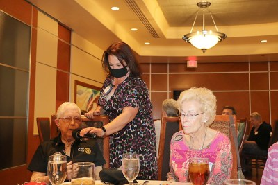 SAA Sara Thornton helps Joan Murdock introduce her guest